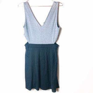 EUC H&M Divided Grey Cutout Dress Medium